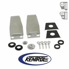 ( 30516 ) Hardtop Liftgate Hinge (pair) Polished Stainless Steel fits 1987-2006 Jeep Wrangler YJ, TJ by Kentrol