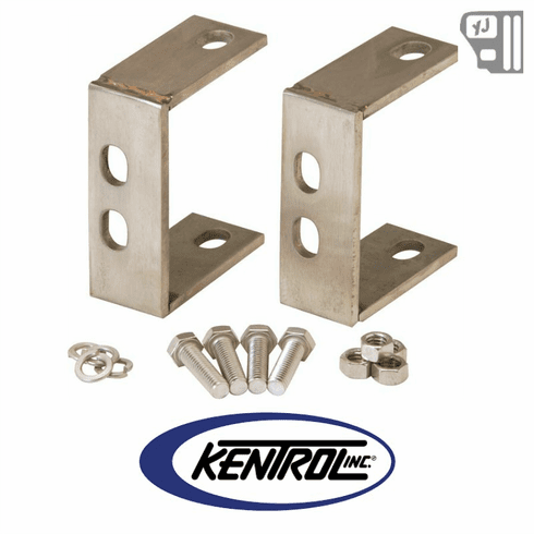 ( 30527 ) Rear Bumper Brackets (pair) Polished Stainless Steel fits 1987-1995 Jeep Wrangler YJ by Kentrol