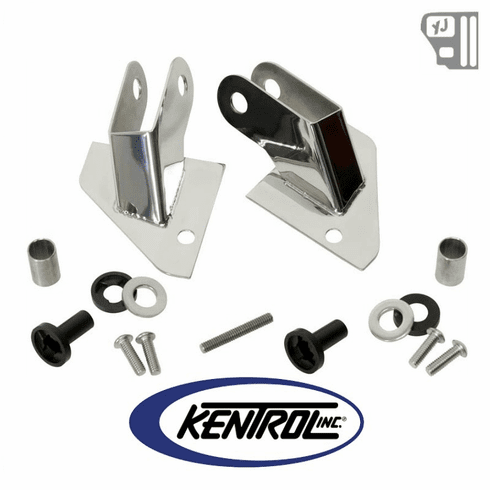 ( 30533 ) Mirror Relocation Bracket (pair) Polished Stainless Steel fits 1987-1995 Jeep Wrangler YJ by Kentrol