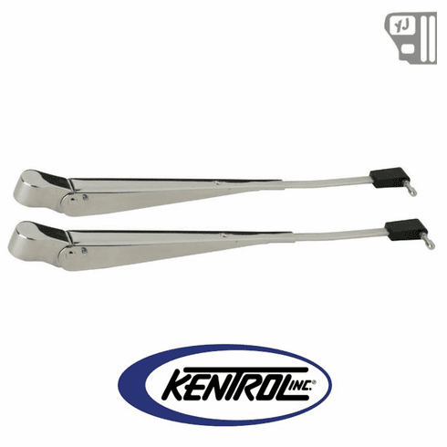 ( 30545 ) Windshield Wiper Arms (pair) Polished Stainless Steel fits 1987-1995 Jeep Wrangler YJ by Kentrol