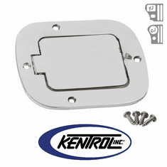 ( 30559 ) Polished Stainless Steel Billet Style Gas Hatch fits 1977-1995 Jeep CJ & YJ Wrangler by Kentrol