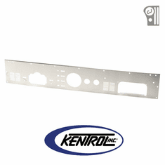 ( 30562 ) Brushed Stainless Steel Dash Panel without Radio Opening fits 1976-1986 Jeep CJ Models by Kentrol