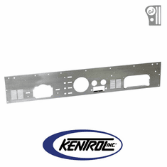 ( 30565 ) Brushed Stainless Steel Dash Panel with Radio Opening fits 1977-1986 Jeep CJ Models by Kentrol