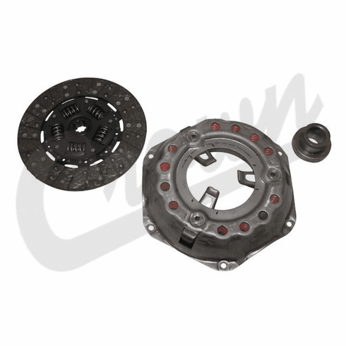 ( 3184909K ) Clutch Disc and Cover Kit, fits 1972-1975 Jeep CJ with 3.8L, 4.2L or 5.0L Engine, 10-1/2″ Clutch by Crown Automotive
