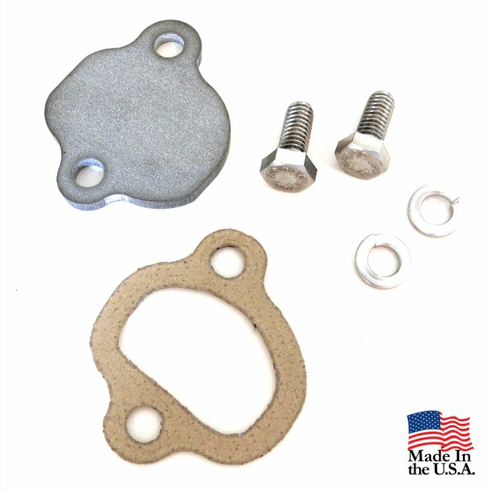 ( 3220181P ) Stainless Steel Choke Tube Block Off Plate for 1973-1991 AMC V8 Engines, with Hardware and Gasket by Preferred Vendor
