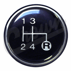( 3241067 )  4 Speed Transmission Shift Knob Insert For 1980-1986 Jeep Models, T4, T176, T177 Transmissions by Preferred Vendor