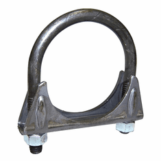 "( 35408 )  Jeep Exhaust Clamp, 2"" Regular Duty, Jeep CJ, Wrangler & Cherokee by Preferred Vendor"