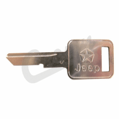( 3641914 ) Ignition Key Blank, fits Ignition Cylinder for 1976-1986 CJ, fits Door Cylinder for 1976-1984 CJ, fits 1987-1990 Wrangler YJ, 1984-1990 Cherokee XJ by Crown Automotive