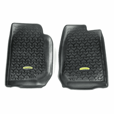( 391292003 ) Black Front Floor Liners for 2007-2018 Jeep Wrangler JK, Unlimited JK by Outland