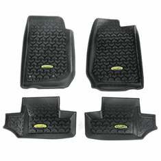 ( 391298703 ) Black Floor Liner Kit for 2007-2018 Jeep Wrangler JK 2-Door by Outland