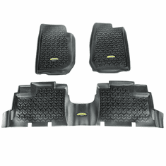 ( 391298704 ) Black Floor Liner Kit for 2007-2018 Jeep Wrangler JK Unlimited 4-Door by Outland