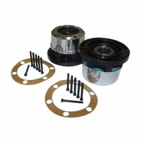 ( 400501 ) AVM Locking Hub Set, Fits 1941-71 Jeep MB, CJ2A, CJ3A, M38, M38A1, CJ3B, CJ5, CJ6 by Crown Automotive