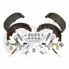 """( 4723367MK ) Rear Brake Shoe Set with Hardware for 1990-00 Jeep Wrangler YJ, TJ & Cherokee XJ with 9"""" X 2-1/2"""" Drums by Crown Automotive"""