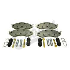 ( 4778058MK ) Front Disc Brake Pad Set with Hardware for 1990-01 Jeep Wrangler YJ, TJ & 1990-96 Cheorkee XJ by Crown Automotive
