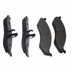 ( 4883344TI ) Titanium Front Disc Brake Pad Set for 1990-06 Jeep Wrangler YJ, TJ, 1990-01 Cherokee XJ and 1993-98 Grand Cherokee ZJ by Crown Automotive