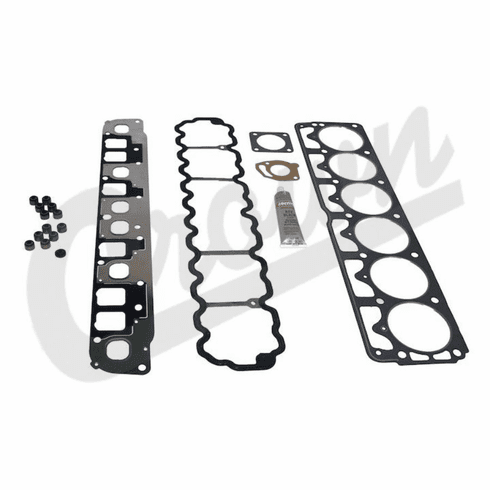 ( 5012365AD ) Upper Valve Grind Gasket Set for 1999-06 Jeep Vehicles with 4.0L 6 Cylinder Engine by Crown Automotive