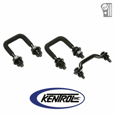 ( 50411 ) Black Powder Coated Stainless Windshield Tie Down Kit fits 1955-1986 Jeep CJ Models by Kentrol