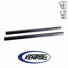 ( 50416 ) Black Powder Coated Stainless Entry Guards Set fits 1976-1995 Jeep CJ7 & YJ Wrangler by Kentrol