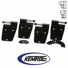 ( 50420 ) Black Powder Coated Stainless Hardtop Door Hinge Set, 4 pieces, fits 1976-1993 Jeep CJ & YJ Wrangler by Kentrol