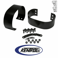 ( 50438 ) Black Powder Coated Stainless Bumperette Set fits 1976-1995 Jeep CJ & YJ Wrangler by Kentrol