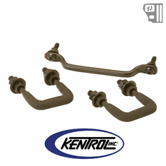 ( 50439 ) Windshield Tie Down Kit Black Powder Coated Stainless fits 1987-1995 Jeep Wrangler YJ by Kentrol
