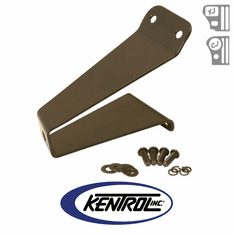 ( 50460 ) Black Powder Coated Stainless Tailgate Tire Stop fits 1976-1995 Jeep CJ & YJ Wrangler by Kentrol