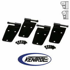 ( 50474 ) Black Powder Coated Stainless Hardtop Door Hinge Set, 4 pieces, fits 1976-1993 Jeep CJ & YJ Wrangler by Kentrol