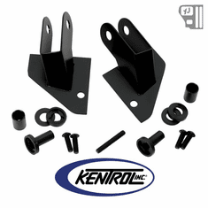 ( 50533 ) Mirror Relocation Bracket (pair) Black Powder Coated Stainless fits 1987-1995 Jeep Wrangler YJ by Kentrol