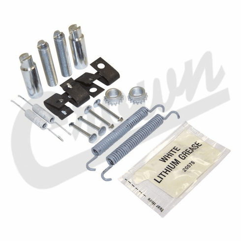 ( 5086930HK ) Parking Brake Hardware Kit for 2005-10 Jeep Grand Cherokee WK and 2006-10 Commander XK by Crown Automotive