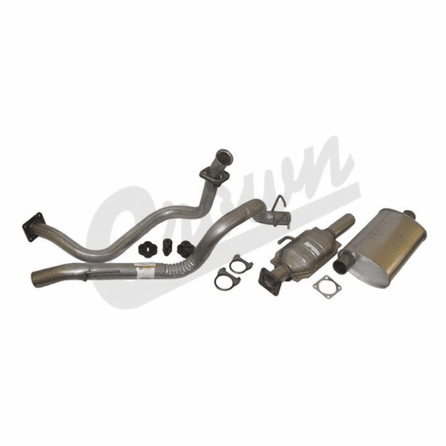 ( 52001720K ) Complete Exhaust Kit for 1987-92 Jeep Wrangler YJ with 2.5L Engine by Crown Automotive