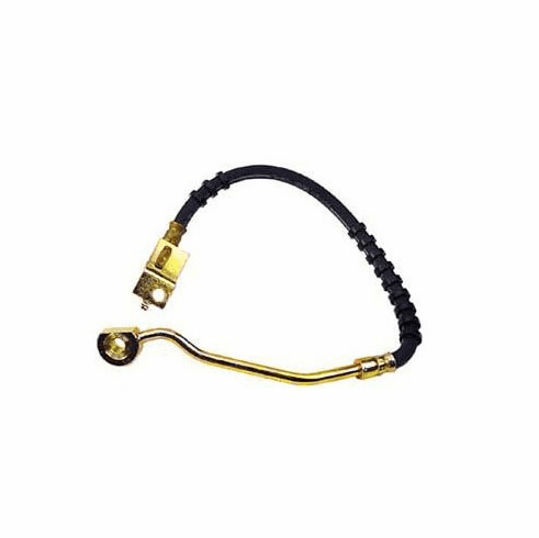 ( 52006473 ) Front Driver Side Brake Hose for 1990-94 Jeep Wrangler YJ w/o ABS by Crown Automotive