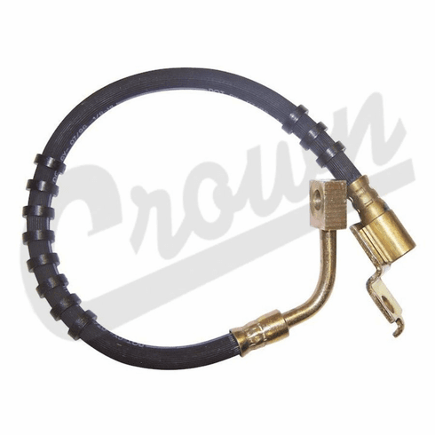 ( 52007587 ) Left Side Front Brake Hose, 1984-93 Jeep Cherokee XJ by Crown Automotive