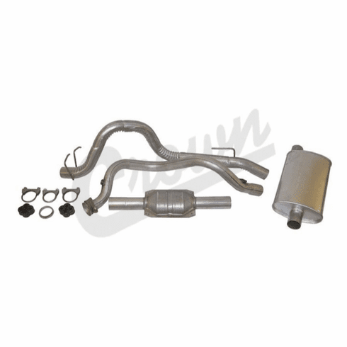 ( 52018176K ) Complete Exhaust Kit for 1993-95 Wrangler YJ with 4.0L Engine by Crown Automotive