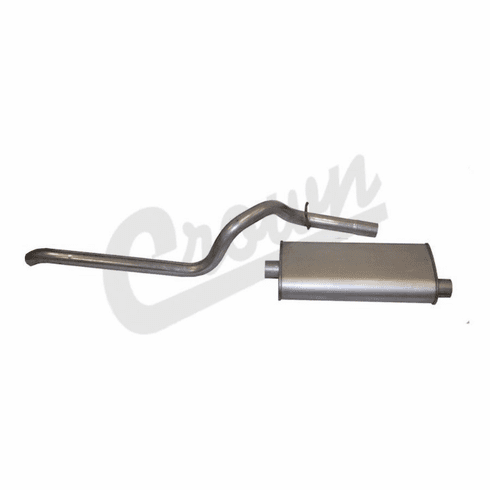 ( 52018335 ) Muffler & Tailpipe for 1984-98 Jeep Cherokee XJ with 2.5L or 4.0L Engine by Crown Automotive