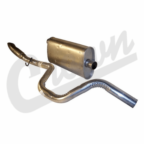 ( 52101196 ) Muffler & Tailpipe for 1996-98 Jeep Grand Cherokee ZJ with 4.0L or 5.2L Engine by Crown Automotive