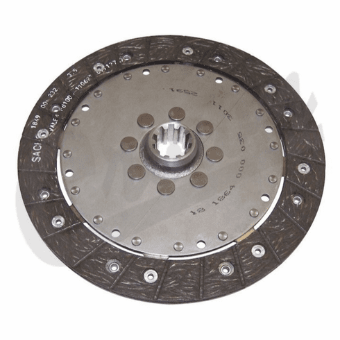 ( 52104581AE ) Clutch Disc, 10 Spline, fits 2005-06 Wrangler TJ, with 2.4L Engine by Crown Automotive