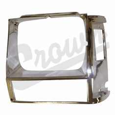 ( 55002245 ) Headlamp Bezel in Chrome for Driver Side 1984-90 Jeep Cherokee XJ by Crown Automotive