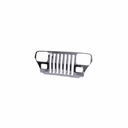 ( 55026587ST )  Stainless Steel Grille Overlay Jeep Wrangler 1987-1995; Stainless Steel. by Preferred Vendor