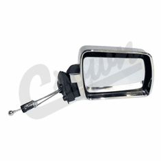 ( 55034120 ) Manual Remote Mirror in Chrome for Passenger Side 1984-96 Jeep Cherokee XJ by Crown Automotive