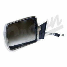 ( 55034121 ) Manual Remote Mirror in Chrome for Driver Side 1984-96 Jeep Cherokee XJ by Crown Automotive