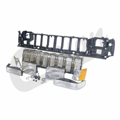 ( 55054886K ) Header Panel Kit for 1993-1995 Grand Cherokee with Chrome Grille By Crown Automotive