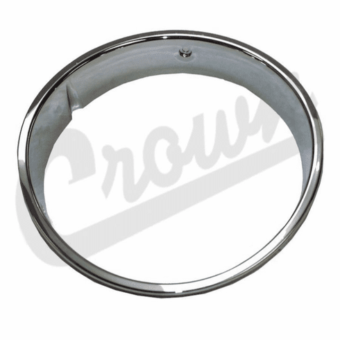 ( 55055047 ) Driver Side Chrome Headlight Bezel for 1997-2006 Jeep Wrangler by Crown Automotive