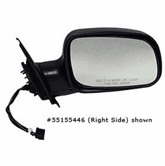 ( 55155447AB ) Driver Side Electric Side View Mirror 1999-02 Jeep Grand Cherokee WJ By Crown Automotive