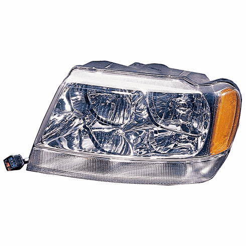 ( 55155553 )  Left Side Headlight, 1999-04 Jeep Grand Cherokee Limited by Preferred Vendor
