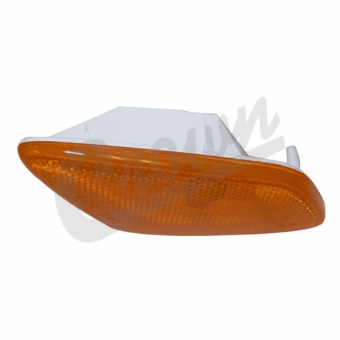 ( 55155629AB ) Amber Sidemarker Lamp, Left Side, fits 1997-06 Jeep Wrangler TJ By Crown Automotive