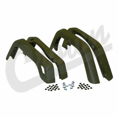 ( 55254918K ) 4 Piece Factory Style Fender Flare Kit, fits 1997-06 Jeep Wrangler TJ and 2004-06 Wrangler LJ By Crown Automotive