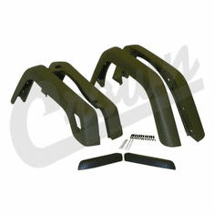 ( 55254918K6 ) 6 Piece Factory Style Fender Flare Kit, fits 1997-06 Jeep Wrangler TJ and 2004-06 Wrangler LJ By Crown Automotive