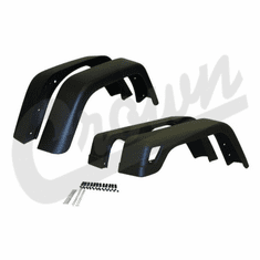 ( 55254918K7 ) 7-inch Wide 4 Piece Factory Style Fender Flare Kit, fits 1997-06 Jeep Wrangler TJ and 2004-06 Wrangler LJ By Crown Automotive