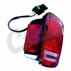 ( 56002134 ) Right Side Tail Light, Black, fits 1987-90 Jeep Wrangler YJ by Crown Automotive