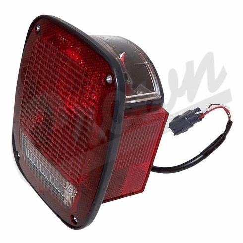 ( 56018649AC ) Left Side Tail Light, fits 1998-06 Jeep Wrangler TJ & Wrangler Unlimited By Crown Automotive